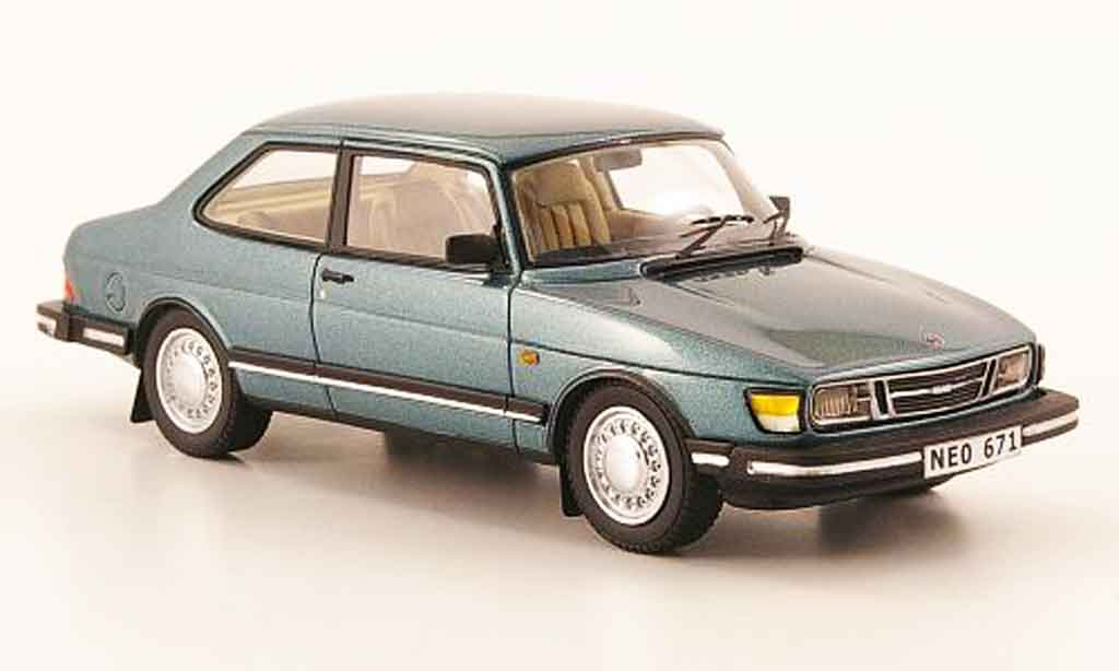 Saab 90 1/43 Neo bleu verte 1985 miniature