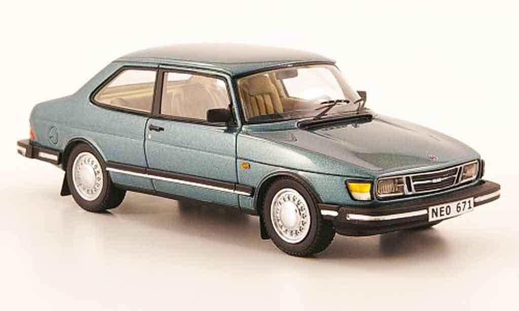 Saab 90 1/43 Neo bleu grun 1985 miniature