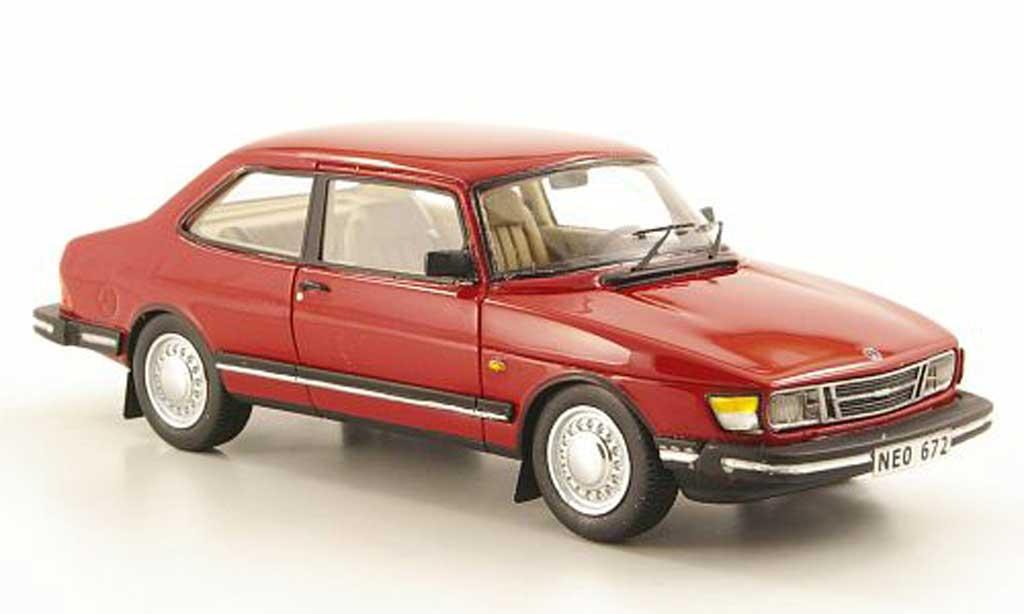 Saab 90 1/43 Neo rouge 1985 miniature