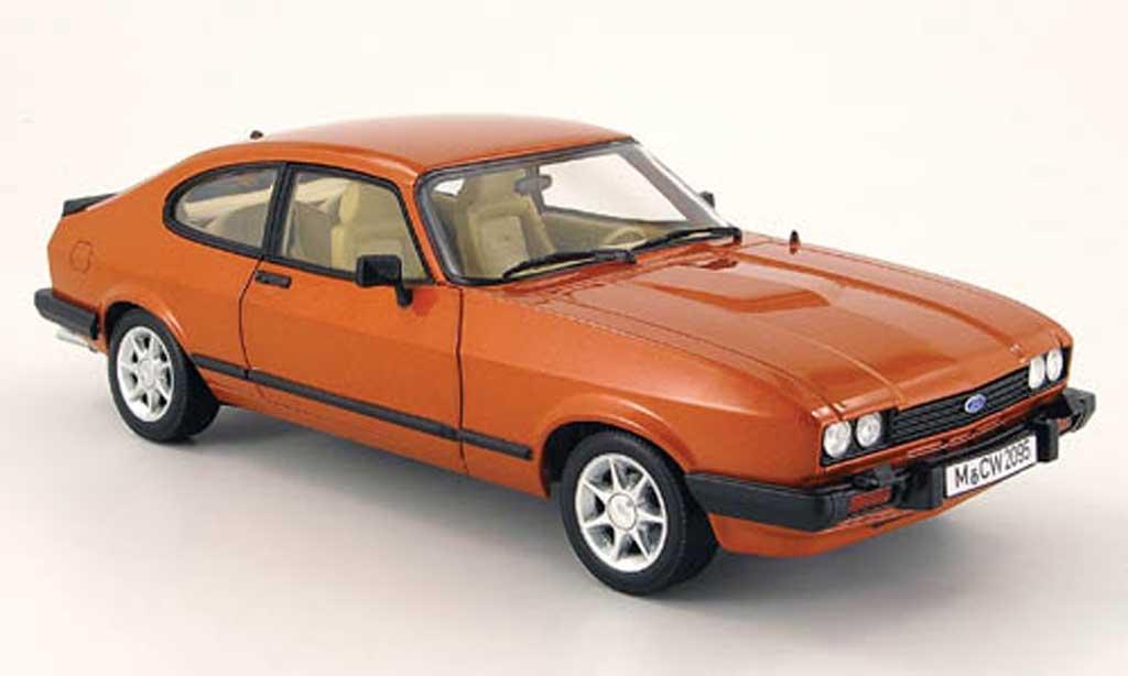 Ford Capri 1/18 Norev mk3 cuivre mcw 1983 miniature