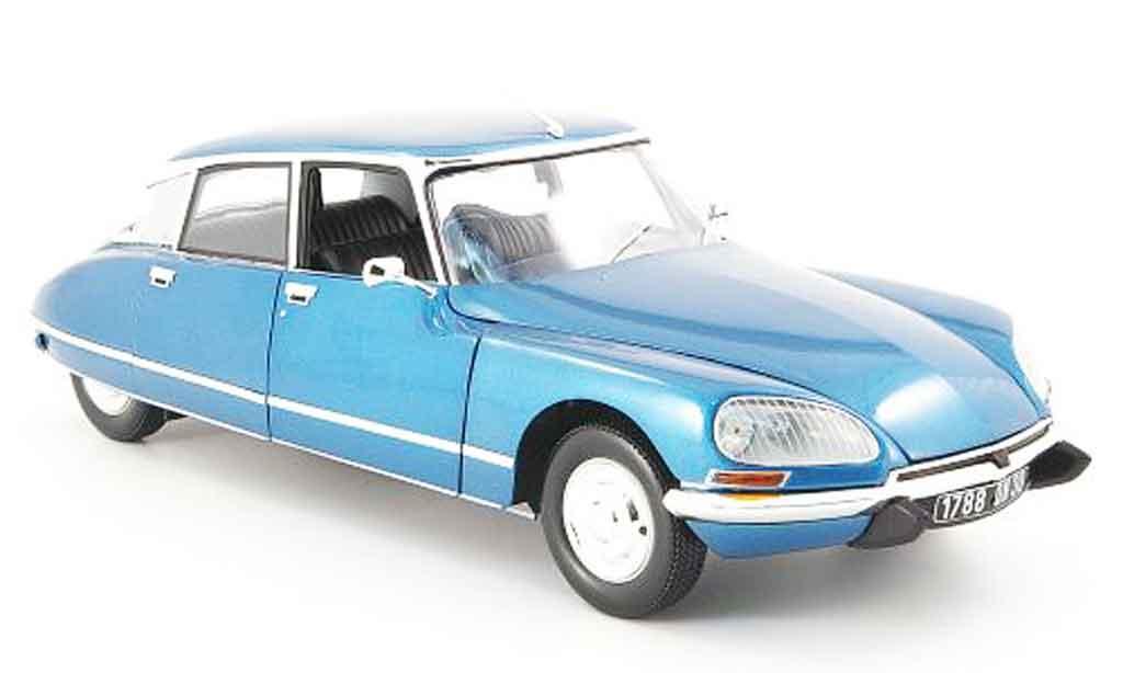Citroen DS 23 1/18 Norev pallas, bleu 1974 miniature