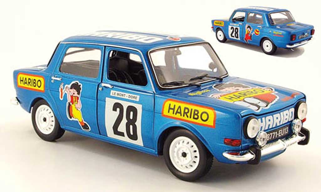 Simca 1000 1/18 Norev rallye 2 no.28 haribo 1977 diecast model cars