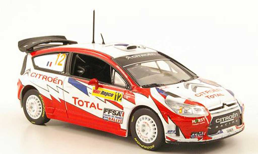 Citroen C4 WRC 2009 1/43 Norev No.12 Total Rally Australien miniature