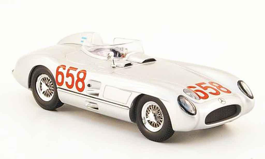 Mercedes 300 SLR 1/43 Norev SLR No.658 J.M. Fangio Mille Miglia 1955 diecast model cars