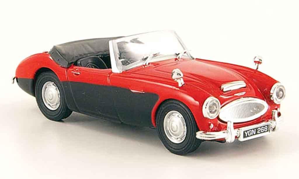 Austin Healey 100 1/43 Cararama /6 red black diecast model cars