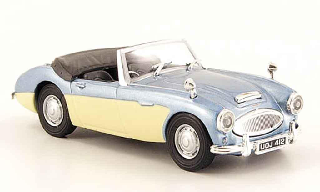 Austin Healey 100 1/43 Cararama /6 grise metallisee bleu beige miniature
