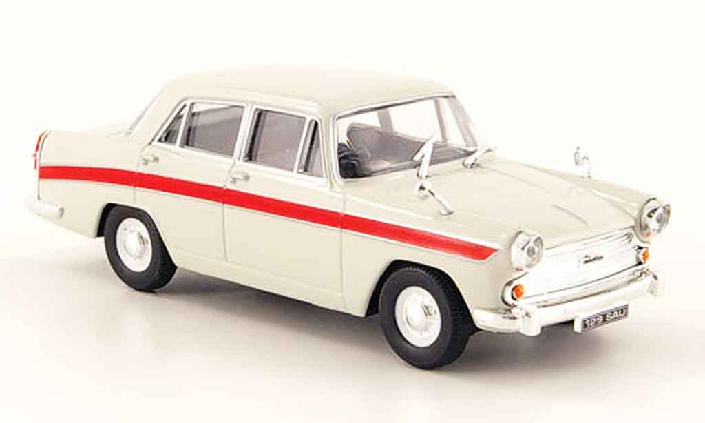Austin A60 1/43 Cararama Cambridge grise rouge miniature