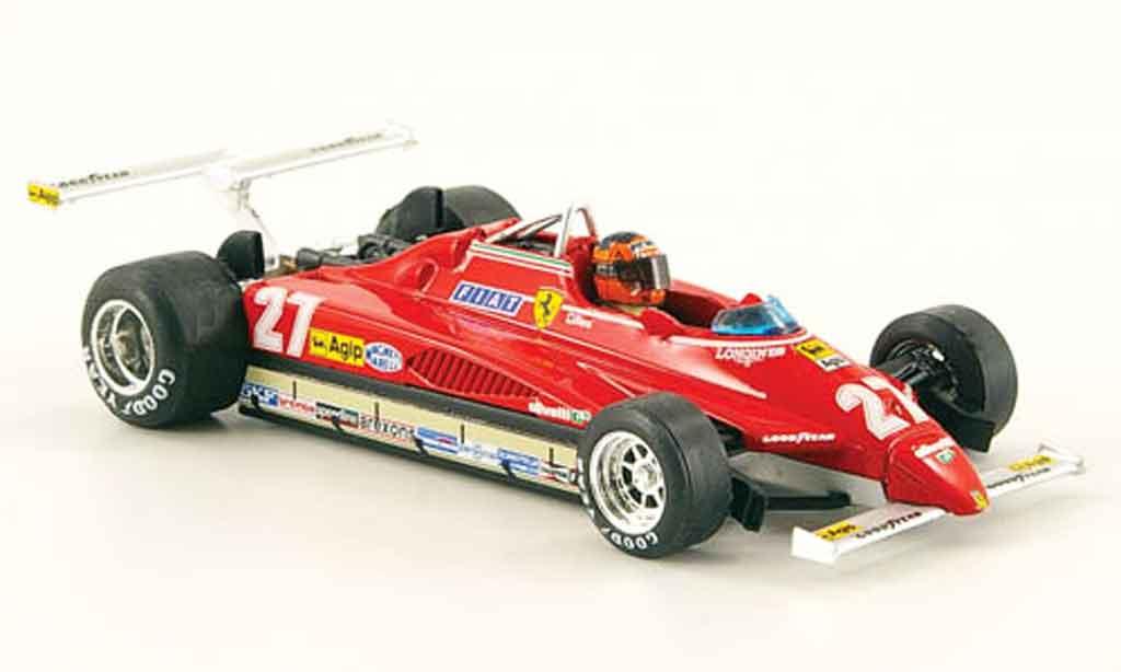 Ferrari 126 1982 1/43 Brumm C2 turbo no.27 g.villeneuve gp usa west