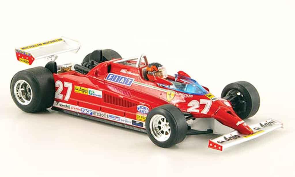 Ferrari 126 1981 1/43 Brumm CK turbo no.27 g.villeneuve gp monte carlo miniature