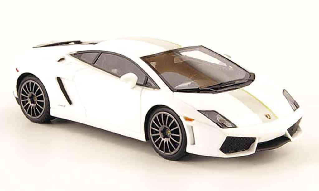 Lamborghini Gallardo LP550-2 1/43 Look Smart valentino balboni blanche grise miniature