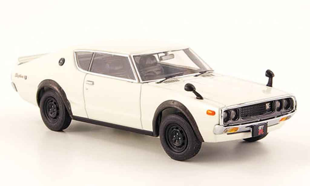 nissan skyline 2000 miniature gt r kpgc110 blanche 1973. Black Bedroom Furniture Sets. Home Design Ideas