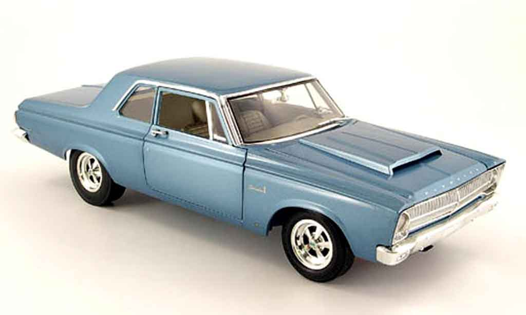 Plymouth Belvedere 1/18 Highway 61 hemi super stock dd1 bleu 1965 miniature