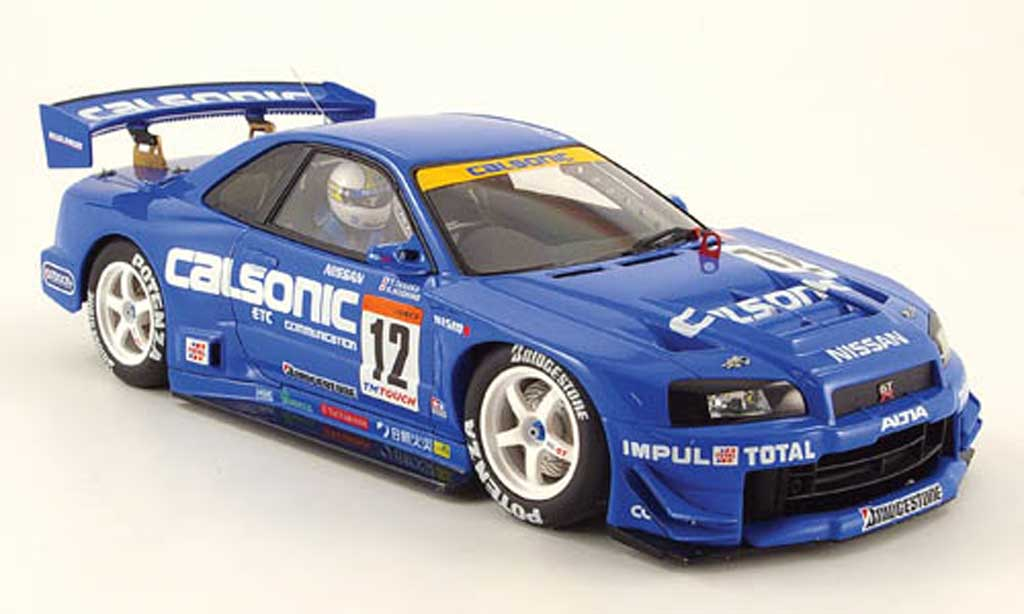 nissan skyline r34 jgtc gt r calsonic 2002 autoart modellauto 1 18 kaufen. Black Bedroom Furniture Sets. Home Design Ideas