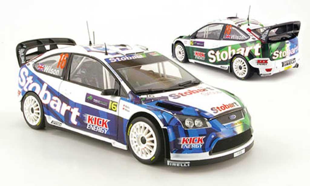 Ford Focus RS WRC 1/18 Sun Star 08 no.16 stobart rallye irlande 2009 miniature