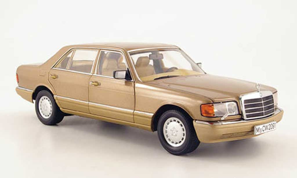 Mercedes 560 SEL 1/18 Norev (w126) or sondermodell mcw le 1.400 1985 miniature