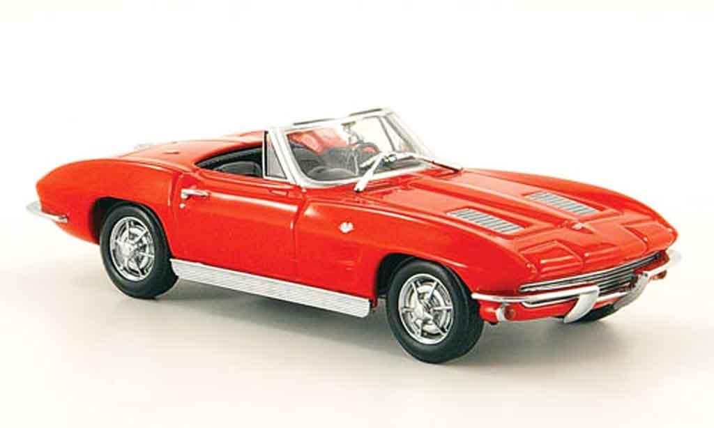 Chevrolet Corvette C2 1/43 Minichamps Cabriolet rouge MCW 1963 miniature