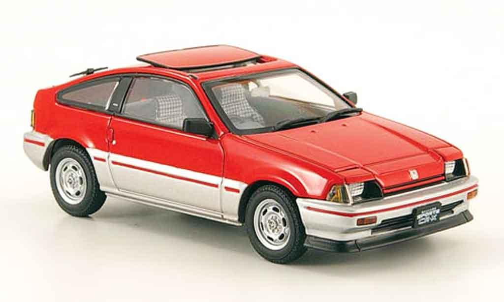 Honda CR-X Ballade 1/43 Ebbro 1.5i rouge grise metallisee 1983 miniature
