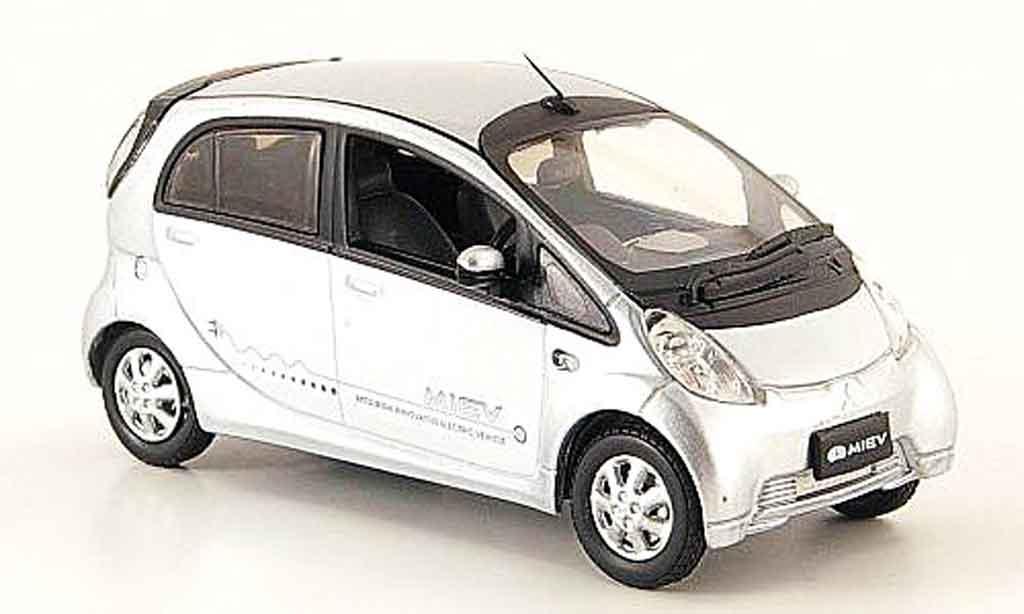 Mitsubishi iMiev 1/43 Vitesse Elektroauto grise metallisee miniature