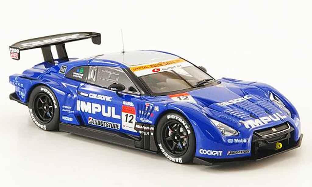 Nissan Skyline R35 1/43 Ebbro GT R No.12 Impul Calsonic SGT 500 Fuji 2009 diecast