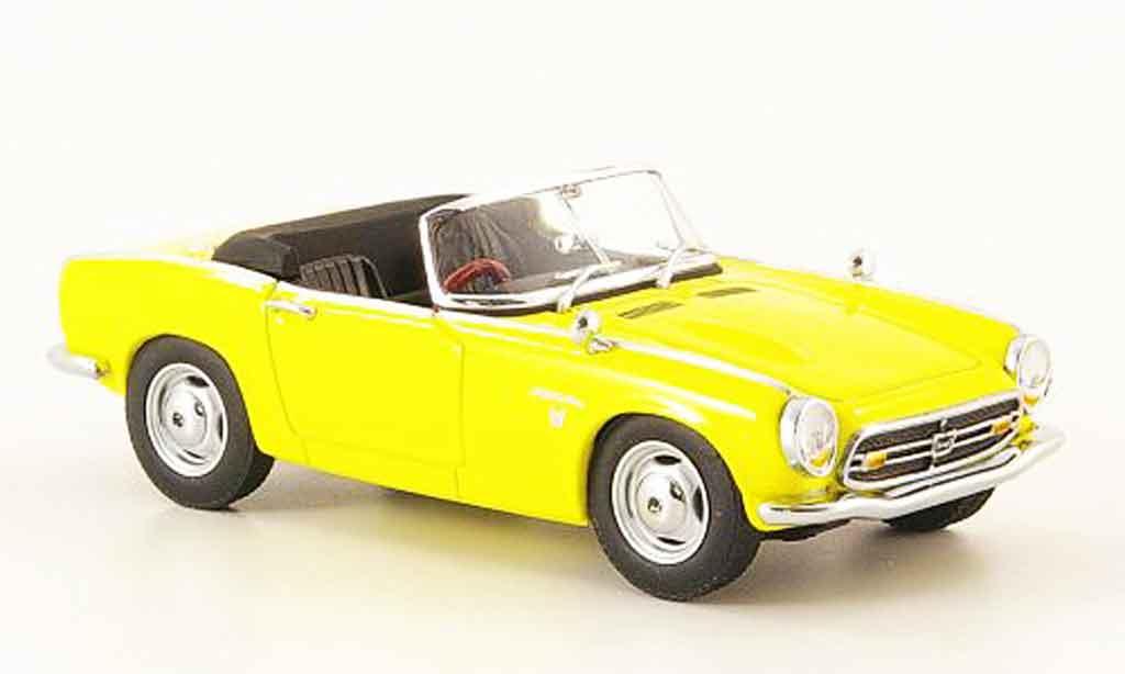 Honda S800 1/43 Ebbro Roadster jaune 1966 miniature