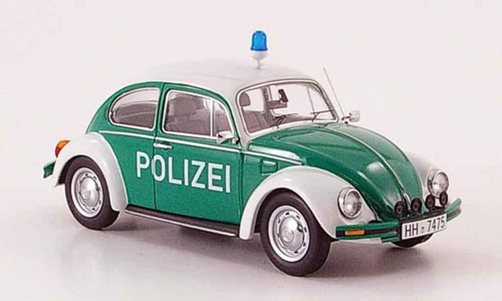 Volkswagen Coccinelle 1/43 Schuco 1200 police miniature