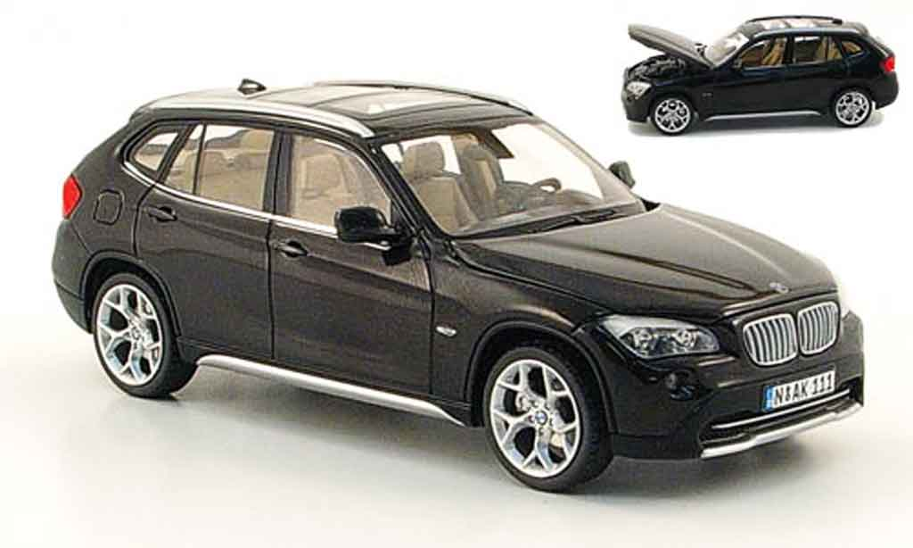 bmw x1 e84 miniature noire 2009 schuco 1 43 voiture. Black Bedroom Furniture Sets. Home Design Ideas