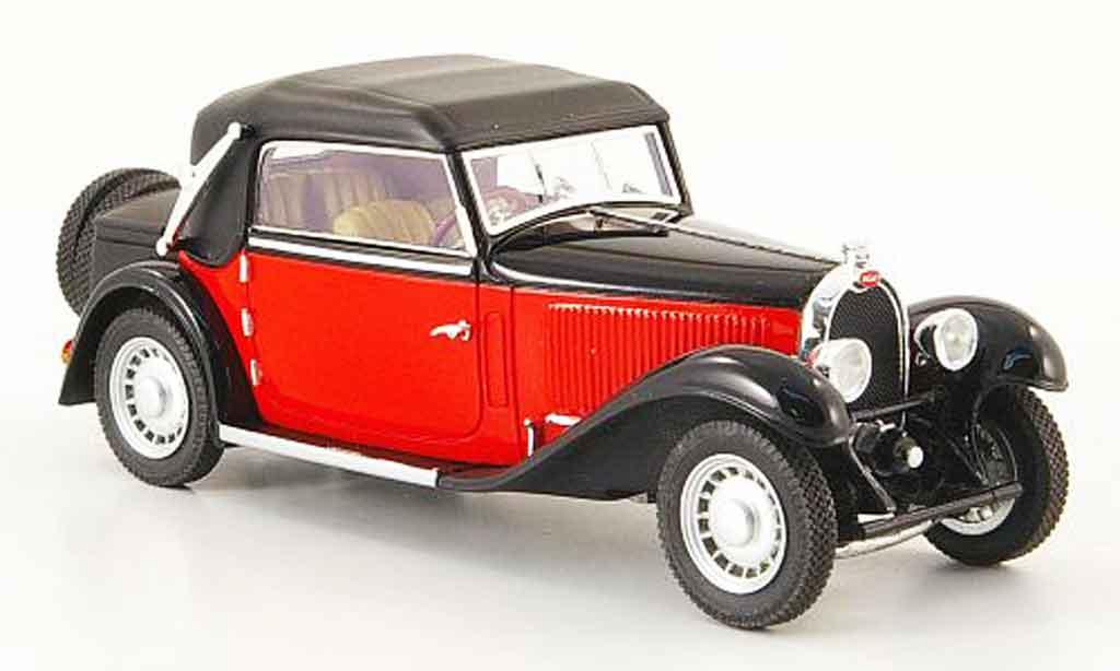 Bugatti 49 1/43 Luxcar cabriolet rouge noire geschlossen 1934 miniature