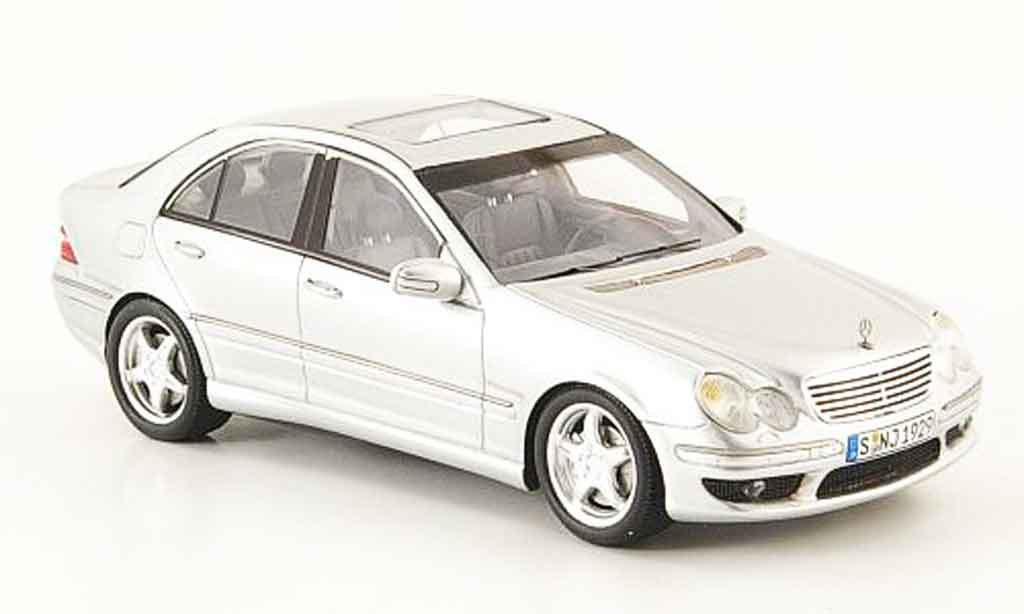 Mercedes classe c c32 amg w203 gray spark diecast model for Miniature mercedes benz models