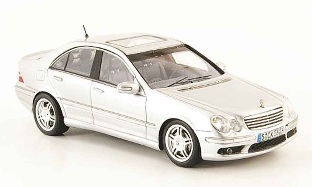mercedes classe c c55 amg w203 grigio spark modellini auto 1 43 comprare sendere modellino. Black Bedroom Furniture Sets. Home Design Ideas