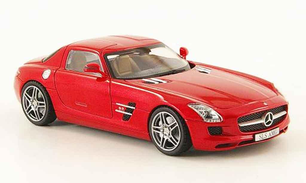 Mercedes SLS 1/43 Schuco AMG (C197) red 2010 diecast model cars