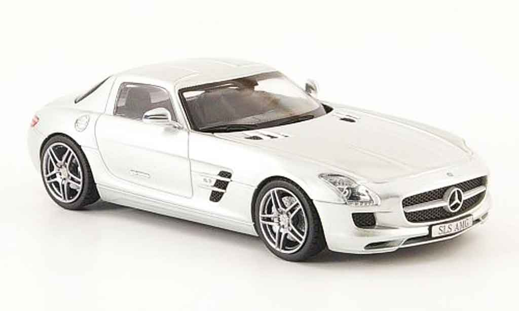 mercedes sls amg c197 grau 2010 schuco modellauto 1 43 kaufen verkauf modellauto online. Black Bedroom Furniture Sets. Home Design Ideas