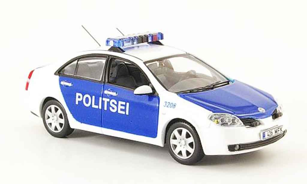 Nissan Primera 1/43 J Collection Politsei police Estland Linkslenker 2004 miniature