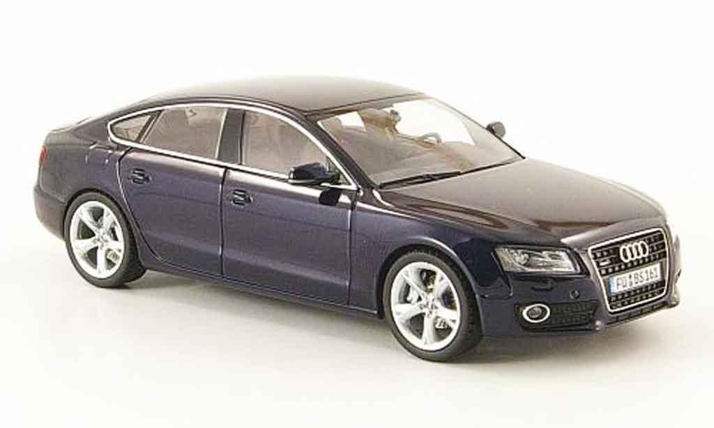 Audi A5 1/43 Schuco Sportback bleu 2009 miniature