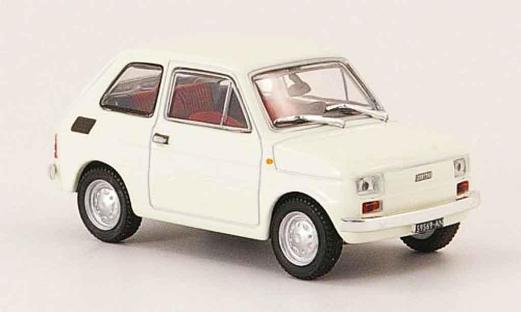 Fiat 126 1/43 Starline blanche 1972 miniature