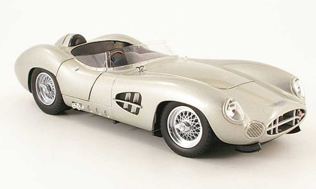 Aston Martin DBR1 1/18 Shelby Collectibles grise 1959 miniature