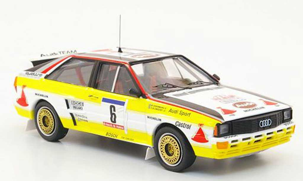 Audi Quattro 1/43 Trofeu No.6 HB Blomquist/Cederberg Rally Korsika 1984 miniature