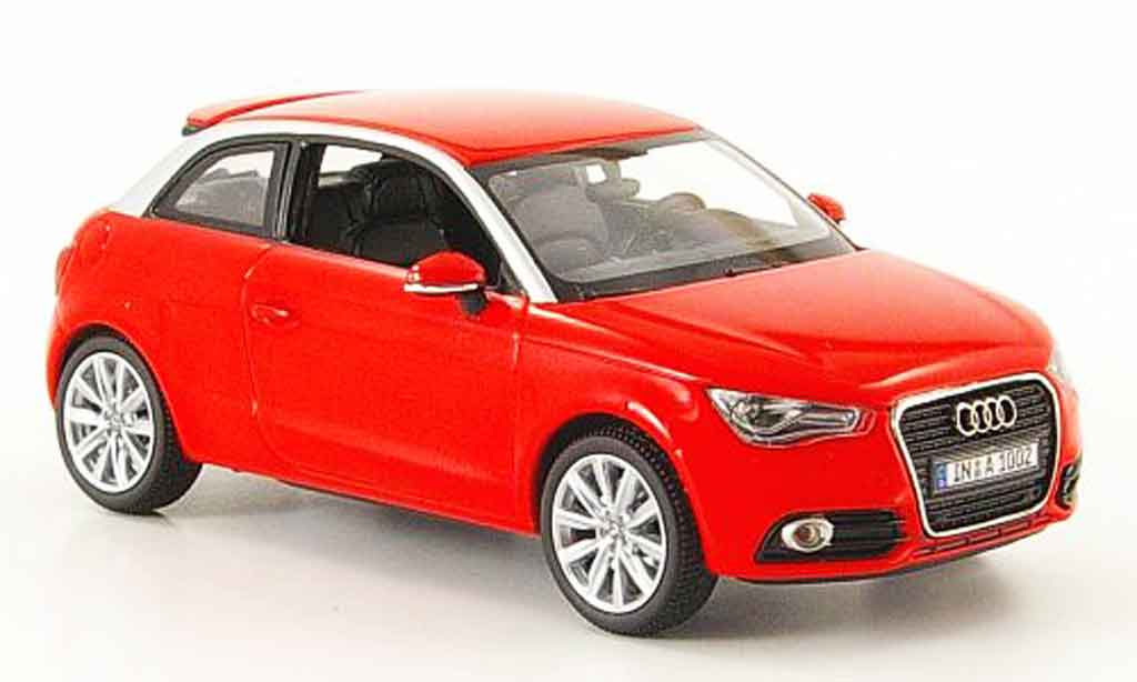 audi a1 miniature rouge 2010 kyosho 1 43 voiture. Black Bedroom Furniture Sets. Home Design Ideas