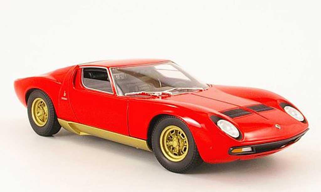 Lamborghini Miura SV 1/18 Welly red 1971 diecast model cars