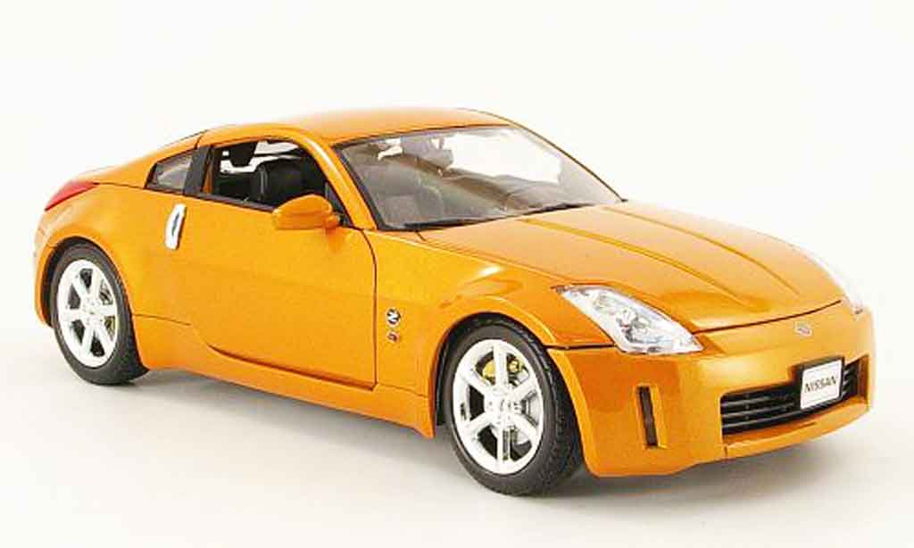 Nissan 350Z 1/18 Welly coupe bronze 2003 miniature