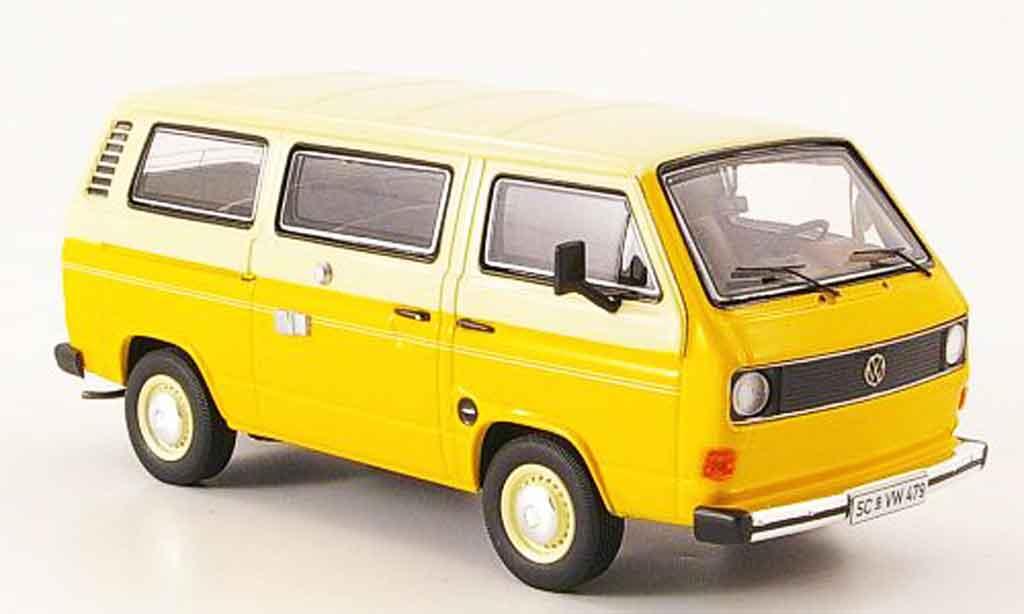 Volkswagen Combi 1/43 Premium Cls t3a bus l jaune beige miniature