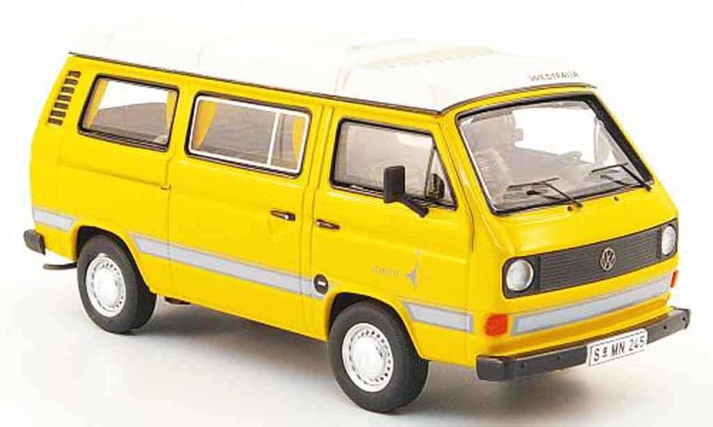 Volkswagen Combi 1/43 Premium Cls t3a westfalia joker jaune miniature