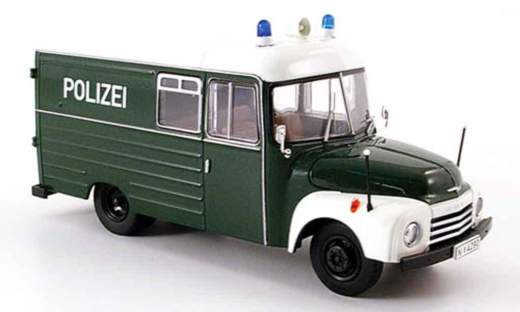 Opel Blitz 1/43 Premium Cls 1.75t kasten police miniature