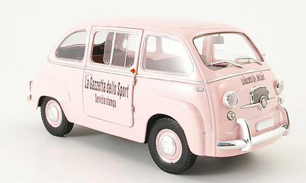 fiat 600 multipla gazetta dello sport mini miniera modellauto 1 18 kaufen verkauf modellauto. Black Bedroom Furniture Sets. Home Design Ideas