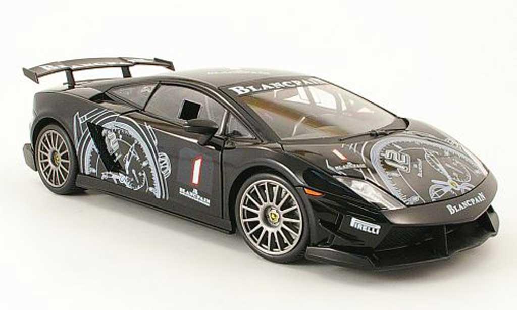 Lamborghini Gallardo LP560-4 LP560-4 1/18 Mondo Motors super trofeo no1 noire miniature