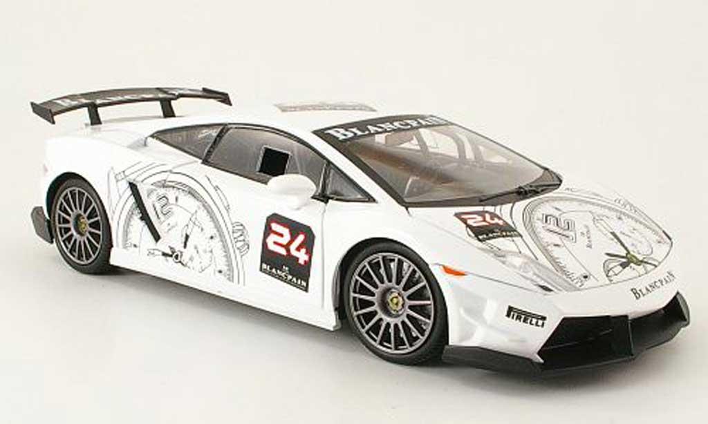 Lamborghini Gallardo LP560-4 LP560-4 1/18 Mondo Motors super trofeo no24 blanche miniature
