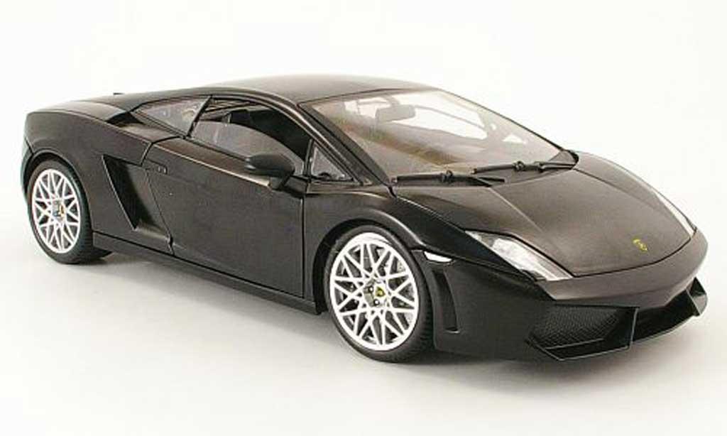 Lamborghini Gallardo LP560-4 LP560-4 1/18 Mondo Motors noire mat miniature