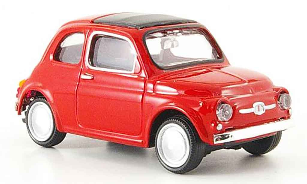 Fiat 500 1/43 Mondo Motors rouge 1957 miniature