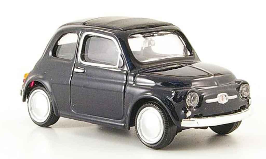 Fiat 500 1/43 Mondo Motors noire 1957 miniature
