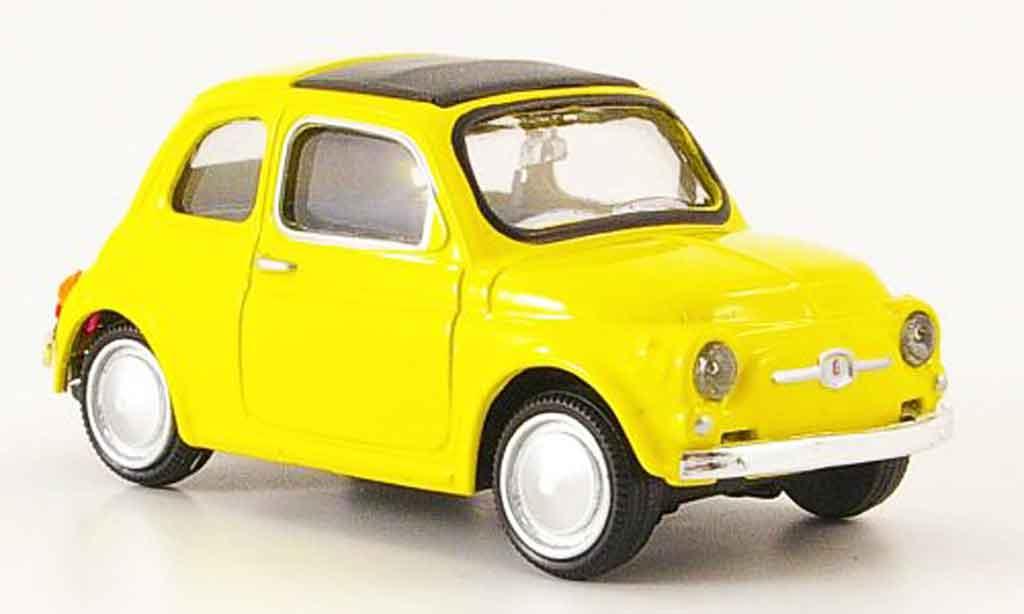 Fiat 500 1/43 Mondo Motors jaune 1957 miniature