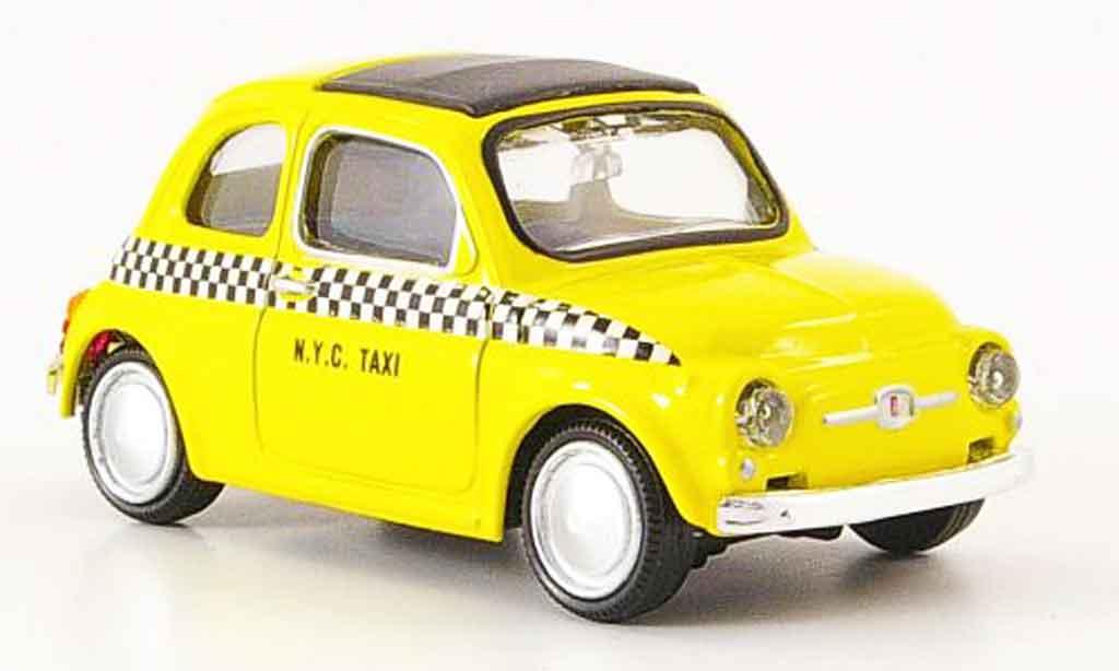 Fiat 500 1/43 Mondo Motors N.Y.C. Taxi jaune 1957 miniature